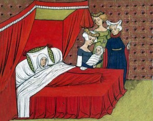 Birth of a child in the Middle Ages