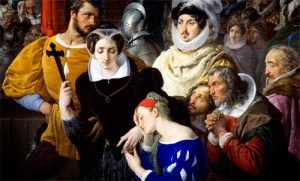 "& Quot; Maria Stuarda led to the gallows"" (particular) Francesco Hayez (1827)"