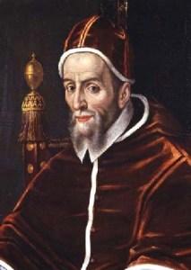 Ritratto di papa Urbano VII, morto di malaria il 27 Settembre del 1590 dopo appena 13 giorni dall'elezione