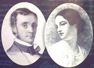 I coniugi Edgar Allan Poe e Virginia Clemm