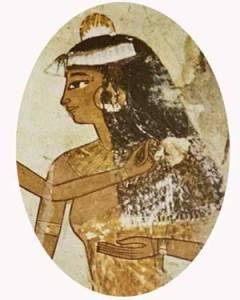 Egyptian Woman. The female beauty began to perfect skin