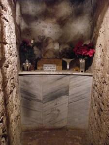 La cella in cui fu rinchiuso Celestino V dopo l'abdicazione, nel castello di Fumone