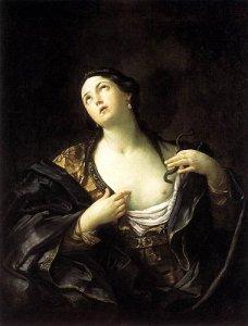 La muerte de Cleopatra acuerdo con Guido Reni