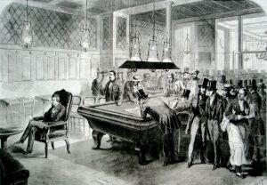Il Café de la Régence a Parigi (stampa del 1891)