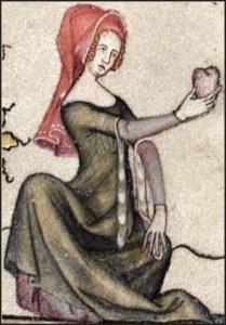 Una donna medievale. I cosmetici dell'epoca erano altamente tossici