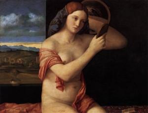 Donna rinascimentale di Giovanni Bellini.  Nel '500, per infoltire le ciglia, si usavano peli di talpa e inchiostro