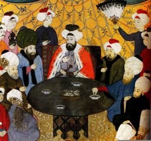 Otomanos en la mesa
