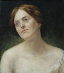 Anonimo ritratto di donna di inizio '900. La bellezza del collo veniva preservata con vari rimedi naturali