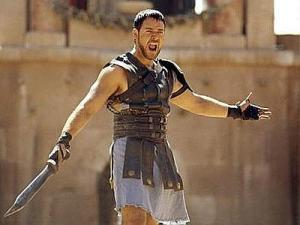 "Russel Crowe, il ""gladiatore"" most famous Film. The gladiators of the current Turkey were vegetarians"