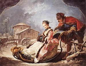 Un paseo en trineo siglo XVIII