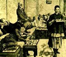 fumadero de opio en París en 800