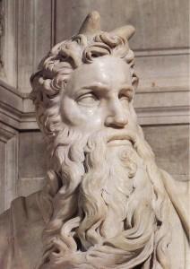 """Volto del """"Mosè"""" di Michelangelo"""