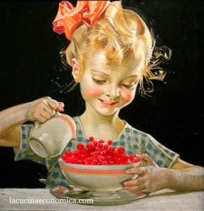 Ribes en una ilustración de la vendimia