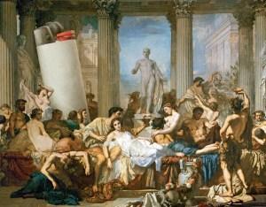 Un banquete en la Antigua Roma. La resaca estaba en la agenda