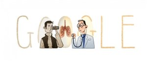 The Google doodle today dedicates to Laennec