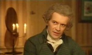 "Maximilien Robespierre in the film & quot; The French Revolution"" (1989)"