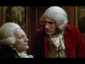 The heated confrontation between Danton and Robespierre