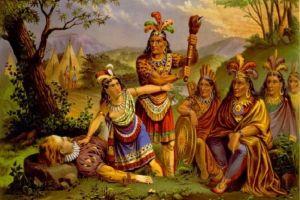 Pocahontas in einer Darstellung