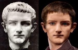 reconstrução facial de Calígula