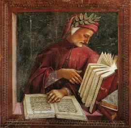Fresco of Dante Alighieri