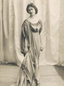 La ballerina Isadora Duncan