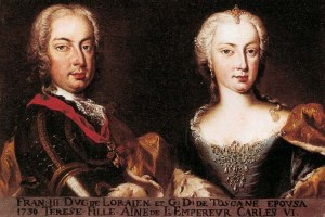 Ritratto di Maria Teresa d'Austria e Francesco Stefano di Lorena