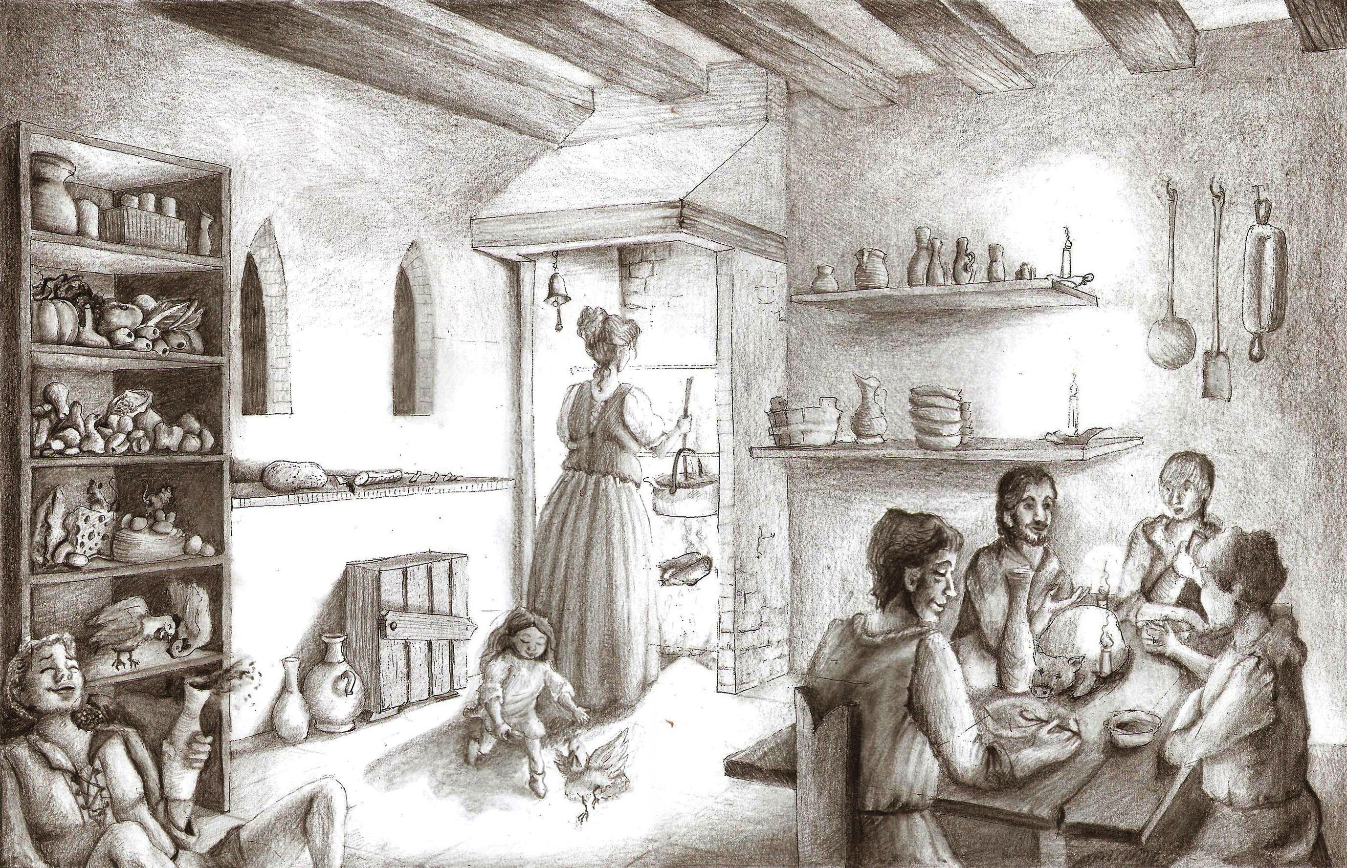 cozinha medieval