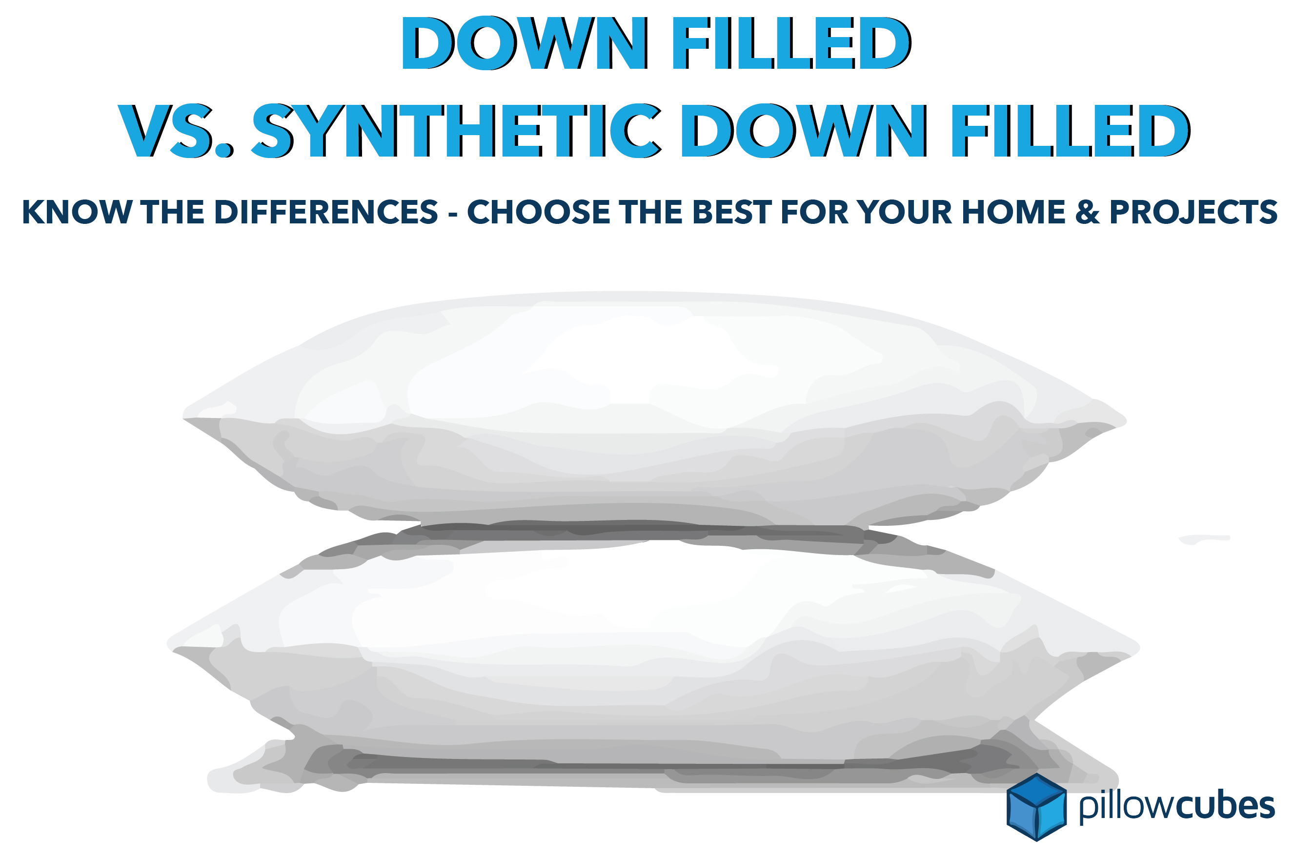 down pillow inserts vs synthetic down