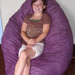 Foam Bean Bag Chair Eames Plywood Chairs Robb S Pillow Furniture Futons Beds Bunks A Raindrop Shown In Aubergine Microfiber
