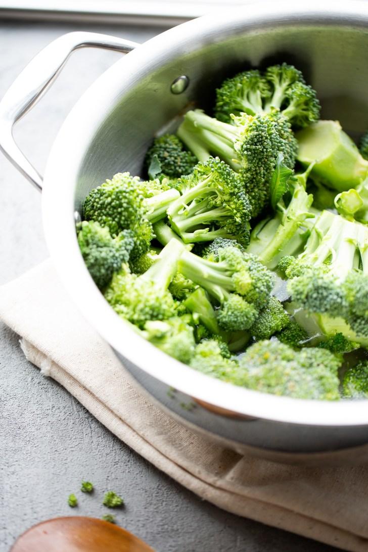 crema de brocoli vegana
