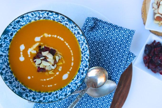 Sopa de zanahoria y gengibre|piloncilloyvainilla.com