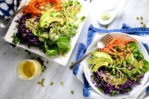 Aderezo de tahini y wasabi