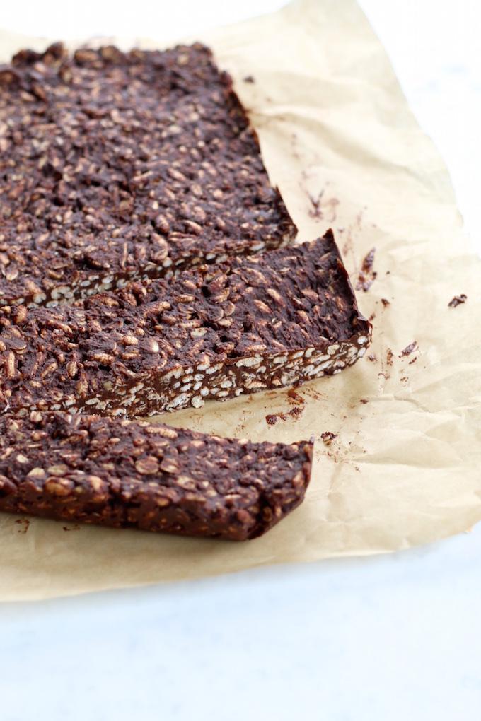 Barras de chocolate y cereal