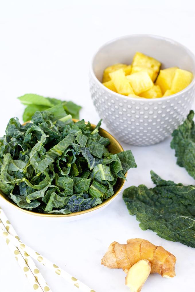 Smoothie de kale y piña