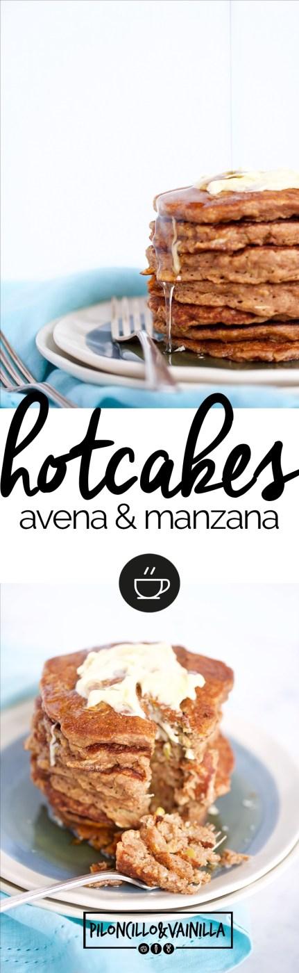 hotcakes de avena y manzana