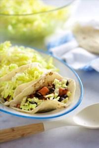 Tacos vegan de frijol y camote.P&V