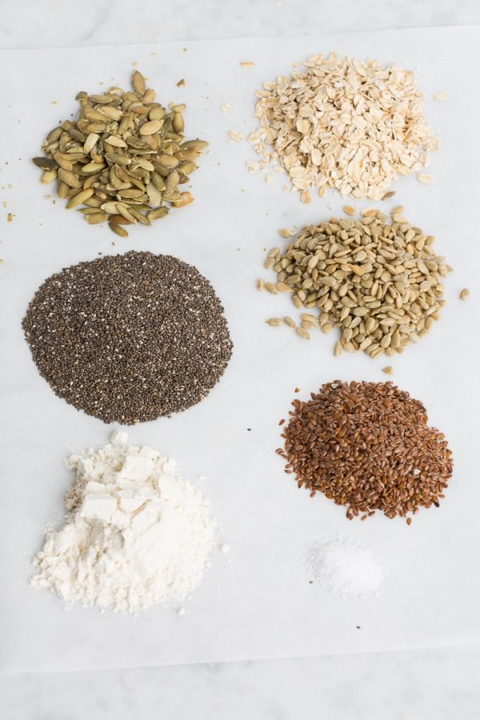 crackers de chia y semillas