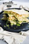 quesadilla de kale y frijol blanco