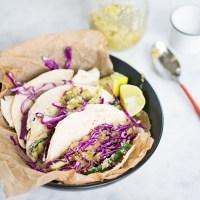 Tacos de calabacita (zucchini) empanizada