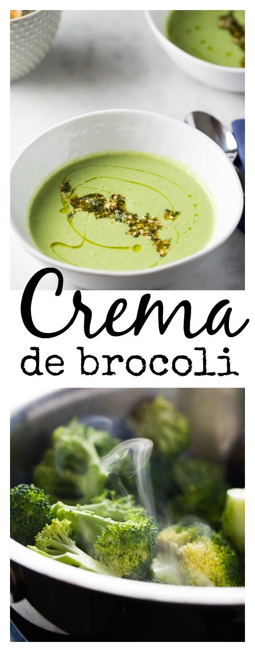 Receta de crema de brocoli con nueces de la india. Vegana, cremosa y deliciosa.