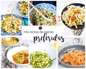 Mis recetas veganas de pasta preferidas. Recetas fáciles, deliciosas, nutritivas y rápidas.Recetas de pasta nutritivas.