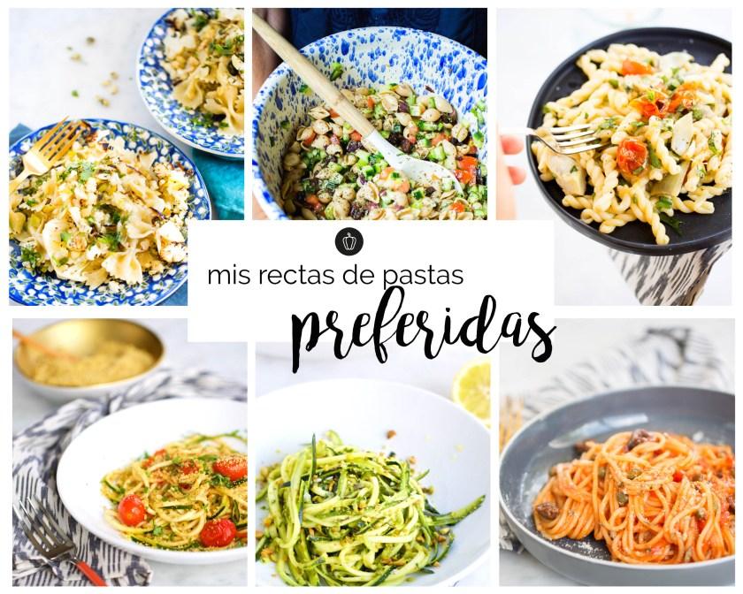 Mis recetas veganas de pasta preferidas. Recetas fáciles, deliciosas, nutritivas y rápidas.