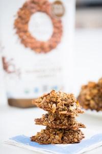 Granola clusters cookies, vegan.