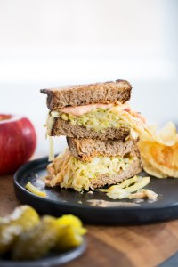 Apple Reuben sandwich
