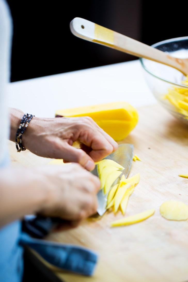Como cortar el mango para el ceviche