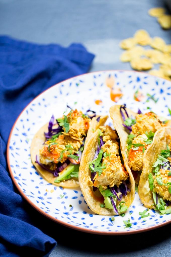 Tacos de coliflor crujiente comida mexicana vegana fcil
