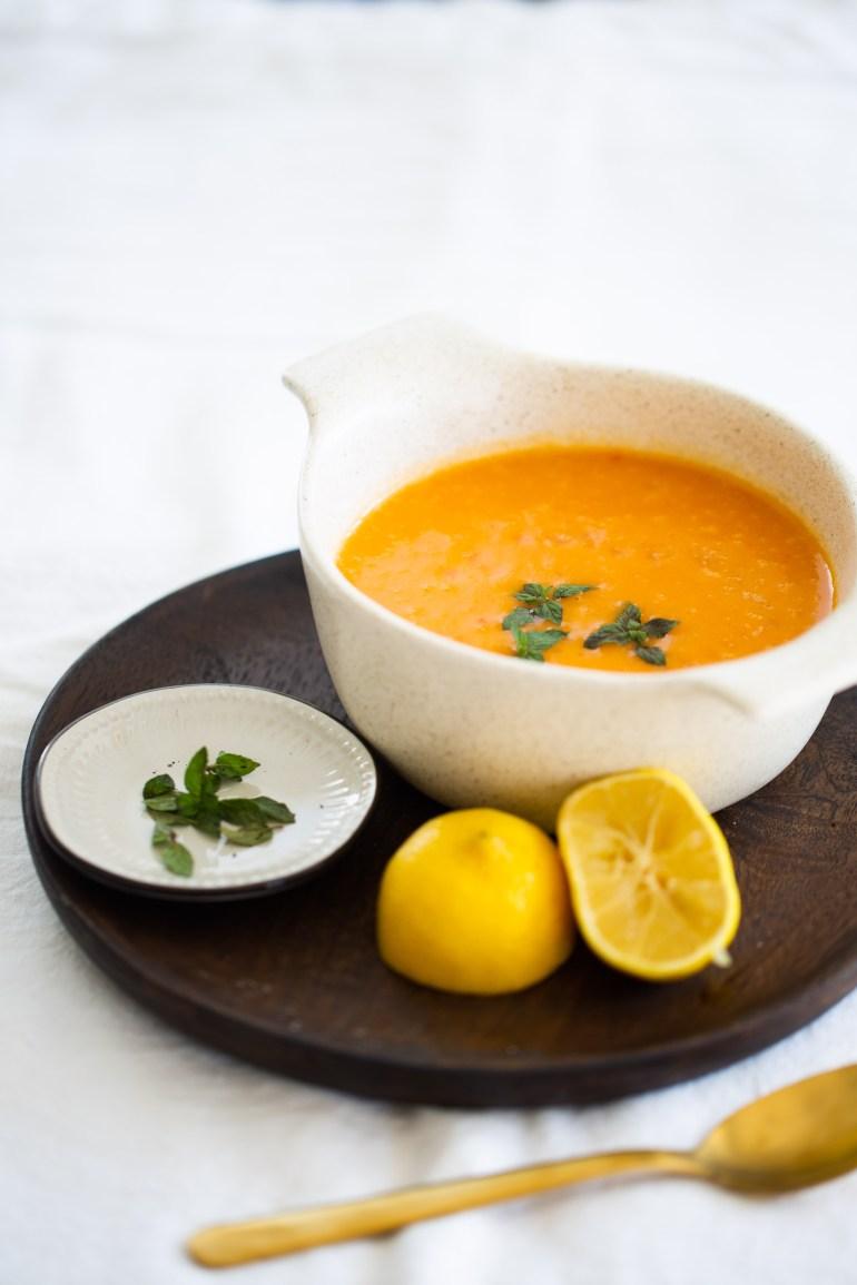 sopa de papa y pimento