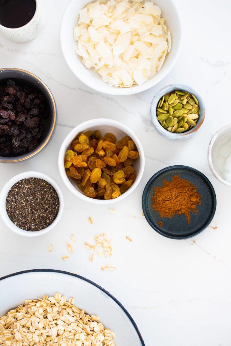 ingredients to prepare granola