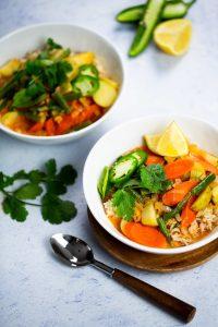 Curry Thai rapidisimo, comida lista en menos de 30 min