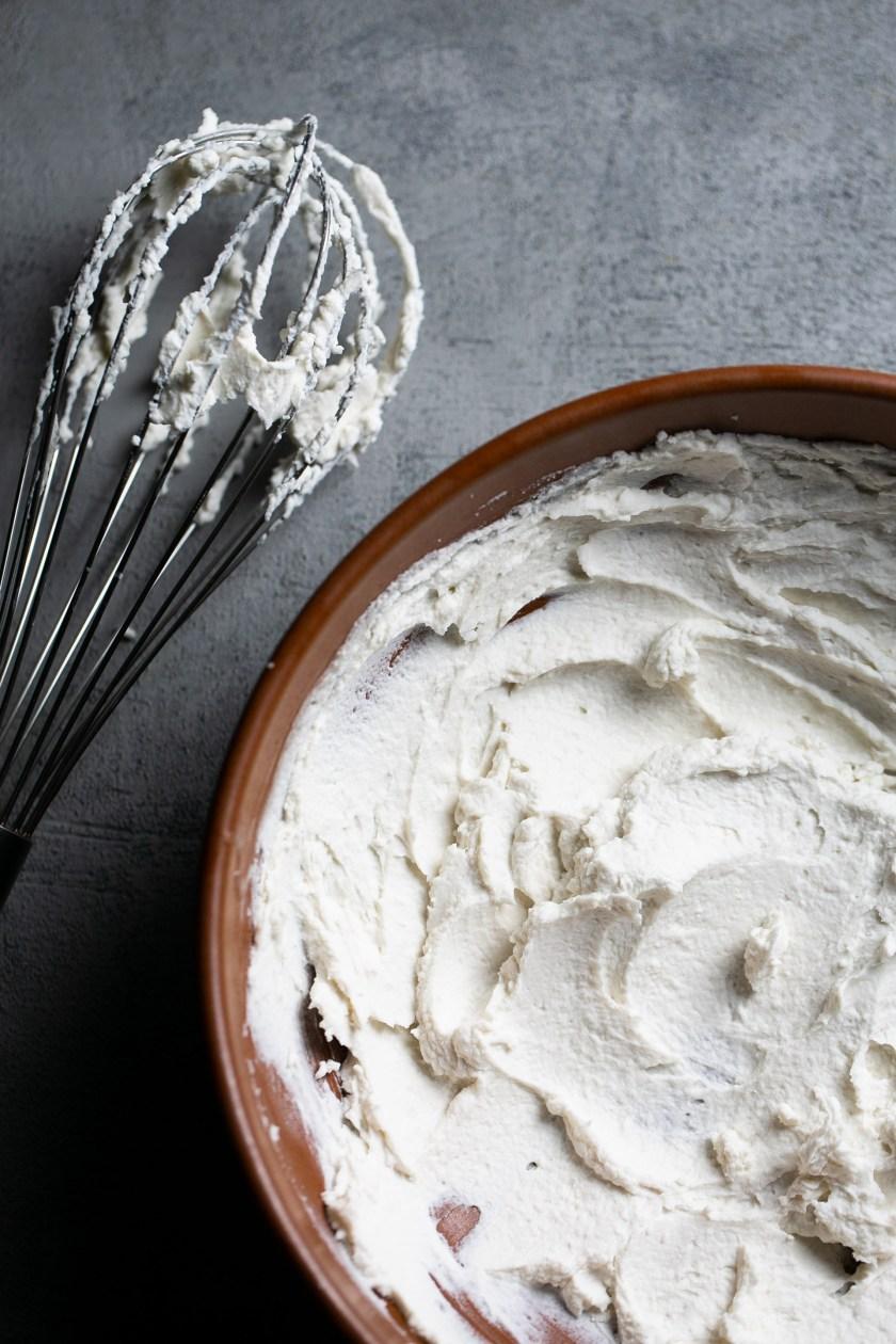 Crema batida de coco